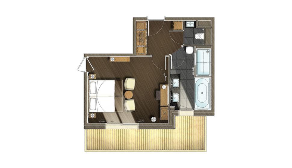 chambres et suites m ribel h tel le ka la 5 toiles. Black Bedroom Furniture Sets. Home Design Ideas